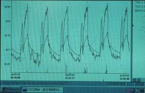 Exemple de courbe de température
